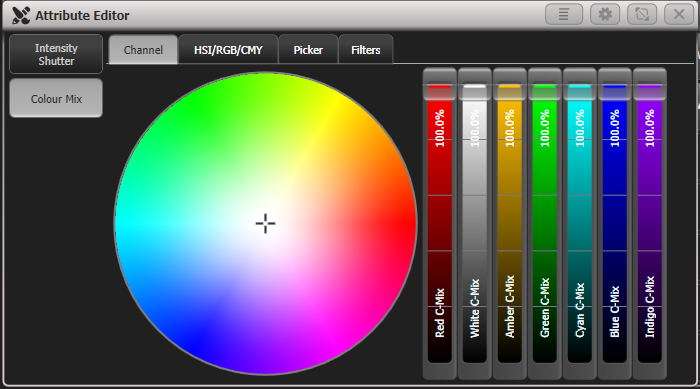 Attribute Editor - Colour Channels